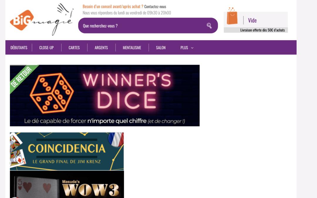 Code promotions réduction Big Magie
